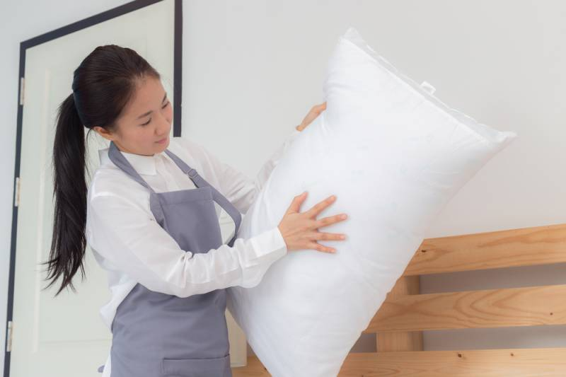 Guide in cleaning your memory foam pillow.