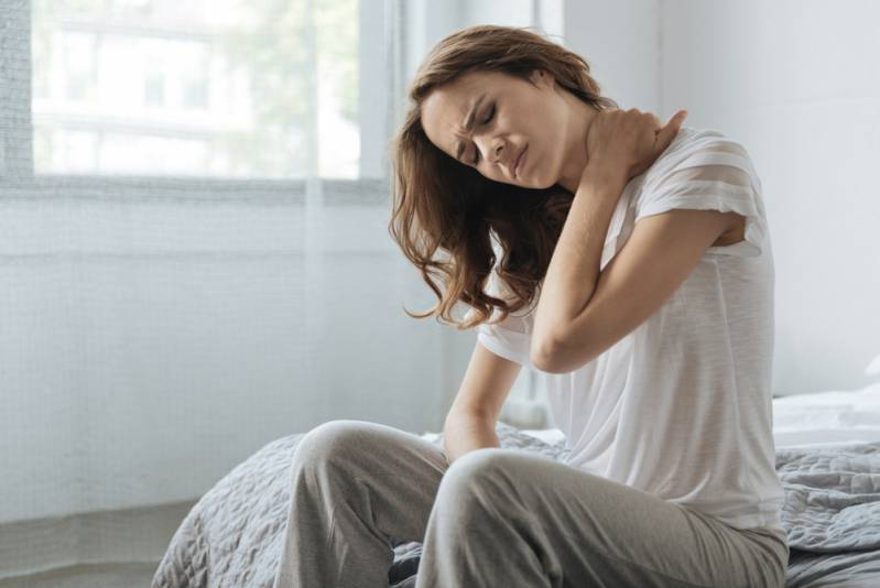 neck pain associated with sleeping.